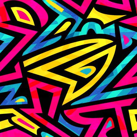 heldere graffiti naadloos patroon Stock Illustratie