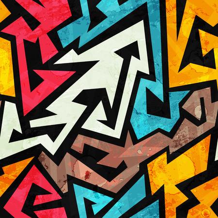 papel tapiz: Modelo inconsútil de la pintada con efecto grunge Vectores