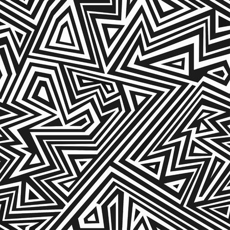 アステカのモノクロのシームレス パターン  イラスト・ベクター素材