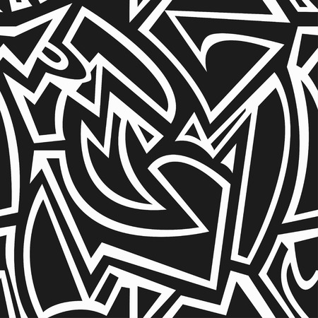 monochrome: monochrome geometric seamless pattern