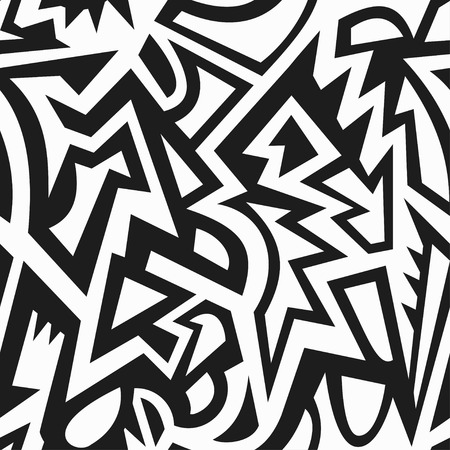monochrome: monochrome tribal seamless pattern Illustration