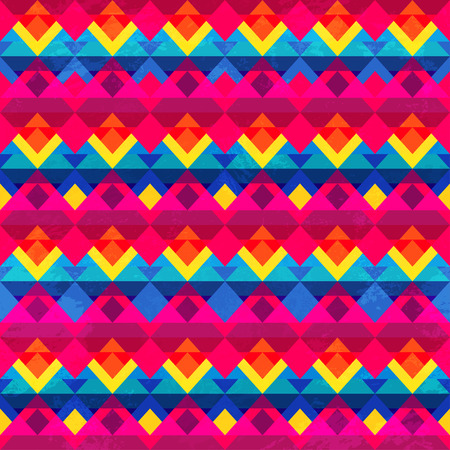 psychedelic: psychedelic triangle seamless pattern Illustration