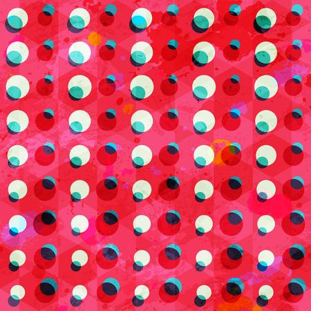 retro circle seamless pattern grunge effect