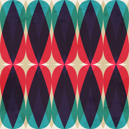 vintage mosaic seamless pattern Illustration