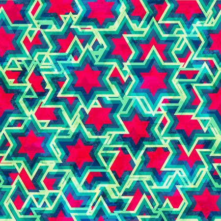 vintage star seamless pattern