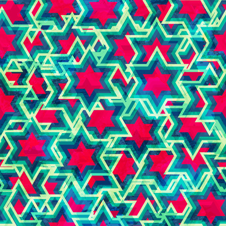 vintage star seamless pattern