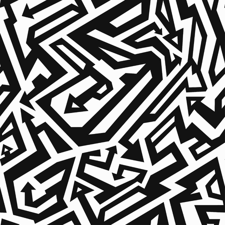 urban grunge: monochrome ancient seamless pattern Illustration
