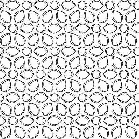 monochrome: monochrome flowers seamless pattern Illustration