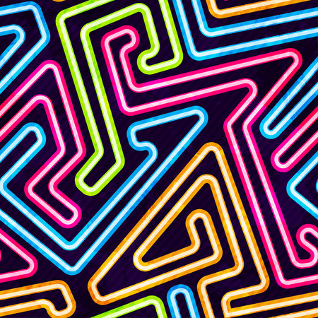 fluorescent: neon seamless pattern