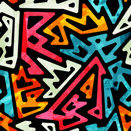 pattern geometric: graffiti geometric seamless pattern