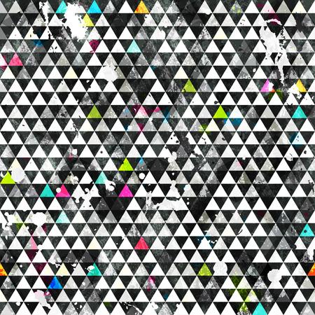 urban grunge: urban triangle seamless pattern with grunge effect