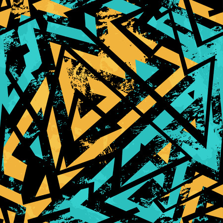urban seamless pattern with grunge effect Illustration
