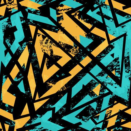 urban street: urban seamless pattern with grunge effect Illustration