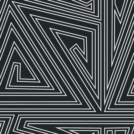triangle pattern: monochrome triangle spiral seamless pattern Illustration