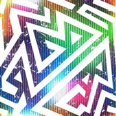 abstract pattern: bright geometric seamless pattern