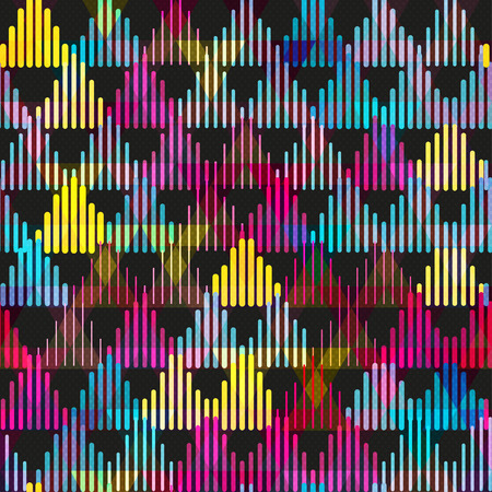 triangle pattern: Colorful triangle seamless pattern. Geometric shapes abstract background.