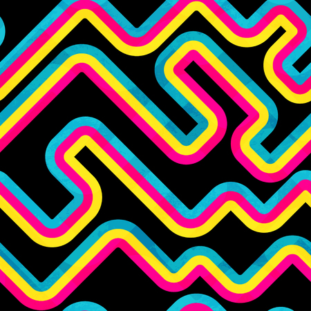 Rainbow curve. Seamless pattern. Vectores