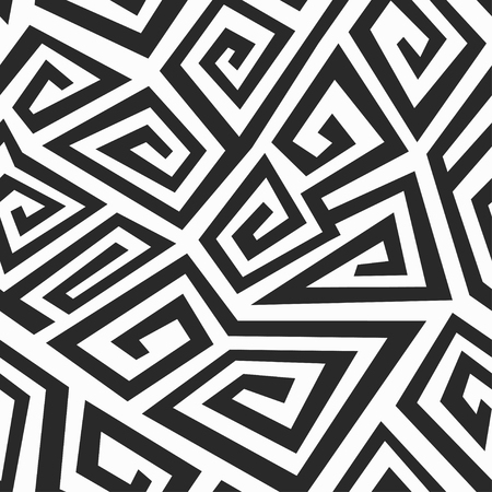 monochrome: monochrome spiral seamless pattern