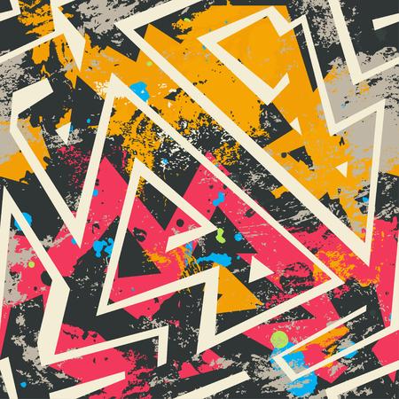 multicolor graffiti seamless pattern Illustration