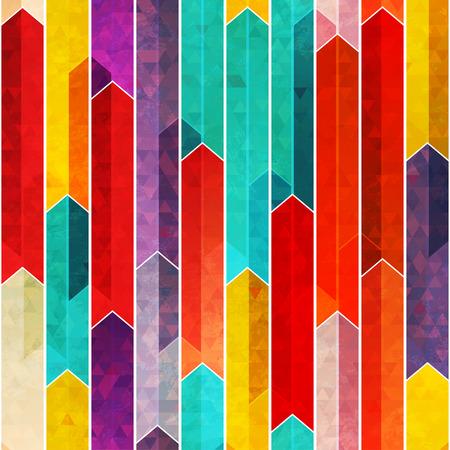 street art: graffiti geometric seamless pattern with grunge effect