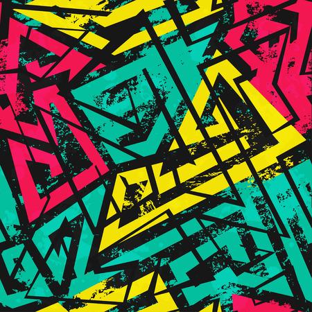 urban spiral seamless pattern with grunge effect