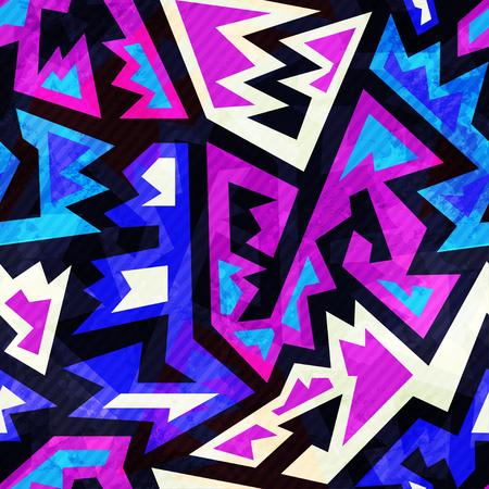 retro color: purple color retro seamless pattern Illustration
