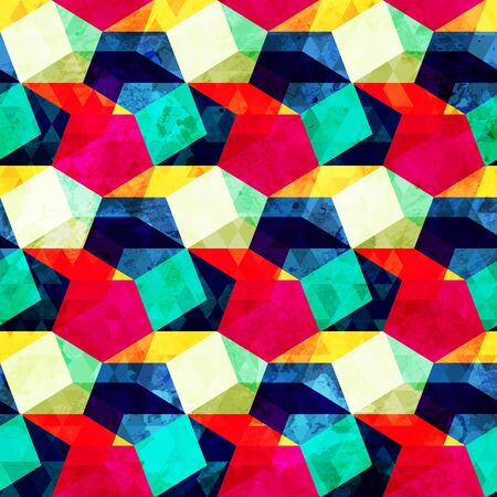 bright: bright geometric seamless pattern