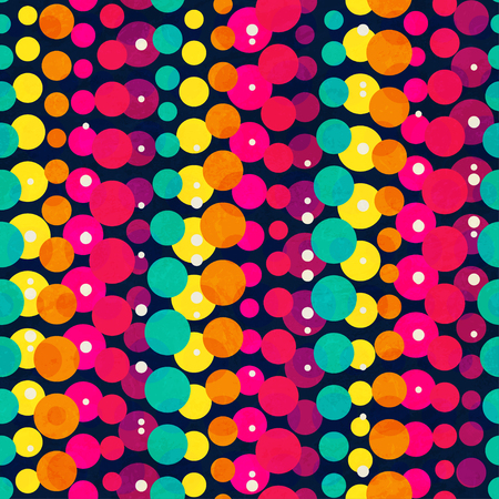 rainbow circle: bright rainbow circle seamless pattern