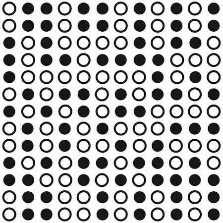 modular rhythm: monochrome circle seamless pattern