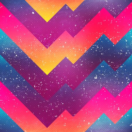 Bright geometric seamless pattern Ilustração