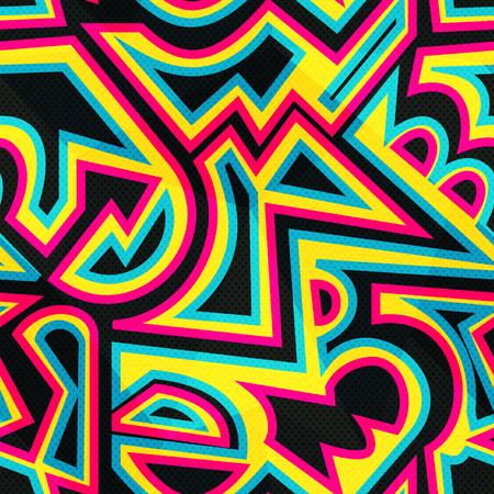 rainbow: Rainbow geometric seamless pattern.