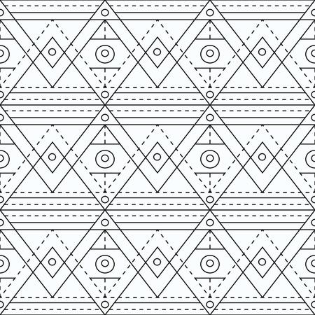 marking: Monochrome marking geometric seamless pattern