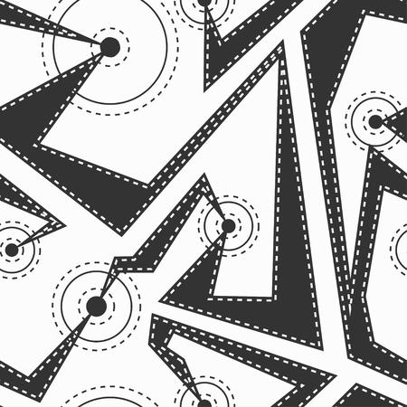 monochrome: Monochrome cloth seamless pattern Illustration