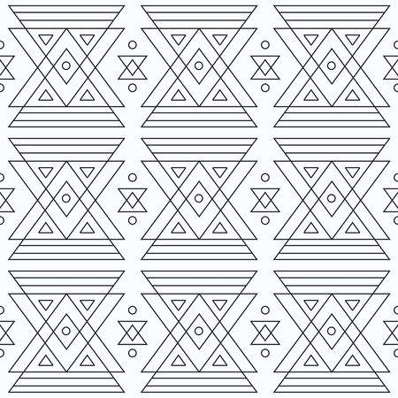 marking: Monochrome marking triangles seamless patter Illustration