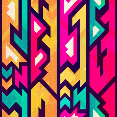 futurist: Colored futurist seamless pattern.