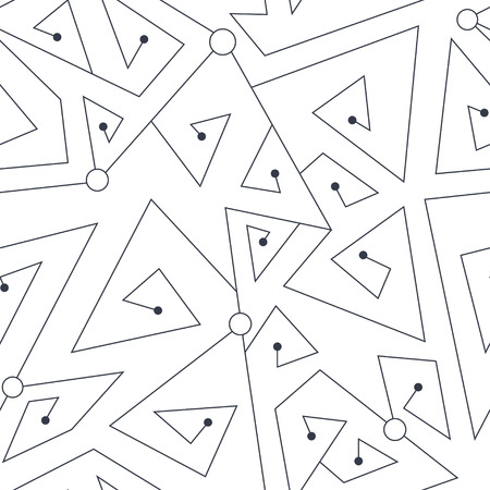 Tech geometric seamless pattern Illustration