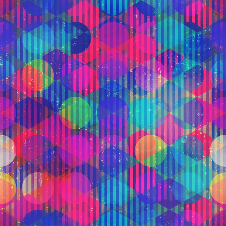 bash: Neon circle seamless pattern