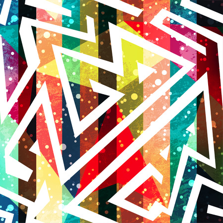 refracted: Colored geometric seamless pattern.