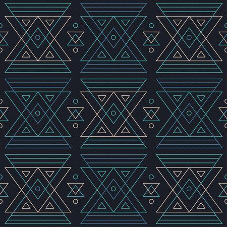 swashes: Blue triangle geometric seamless pattern