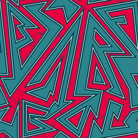 african fashion: Tribal seamless pattern with grunge effect