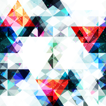vertex: Triangle seamless pattern with grunge effect (vector eps 10)