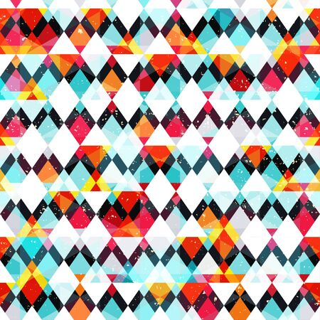 pattern: Colored mosaic seamless pattern (vector eps 10)