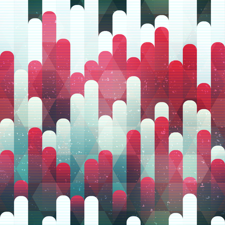 Red stripes seamless pattern (vector eps 10) Illustration