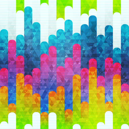 Rainbow stripes seamless pattern (vector eps 10)
