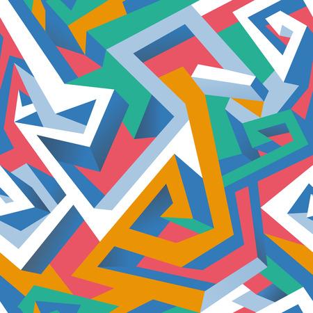 textile image: Isometric geometric pattern. Illustration