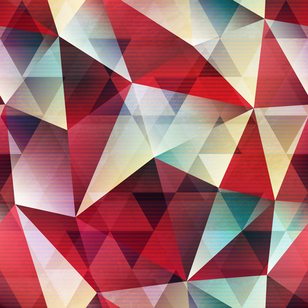 textile image: Red isometric pattern.