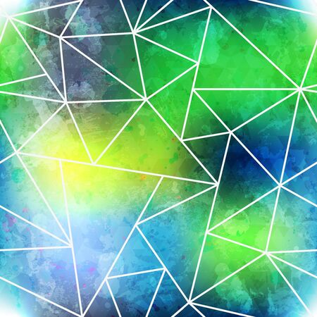 textile image: Green seamless pattern with grunge effect