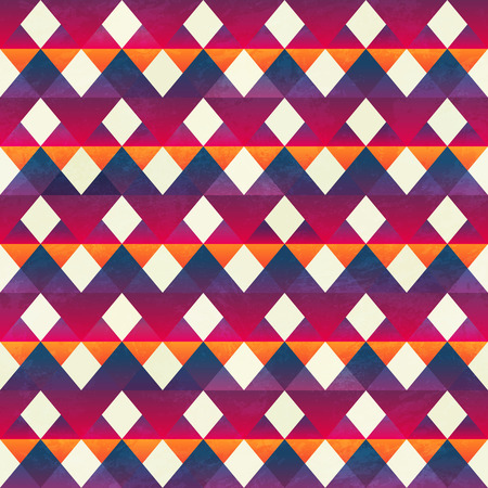 textile image: Red zigzag pattern. Illustration