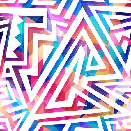 textile image: Colored maze pattern.