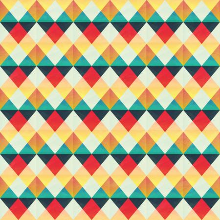 textile image: Retro zigzag pattern. Illustration